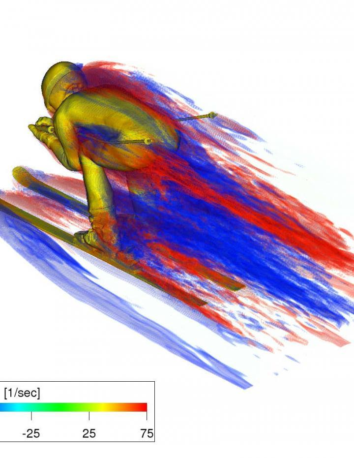 Tsukuba modeling reveals anatomical distribution of drag on skiers
