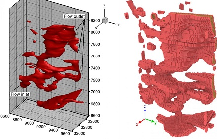 Xia runs supercomputer simulations, shows how fluids flow through shale