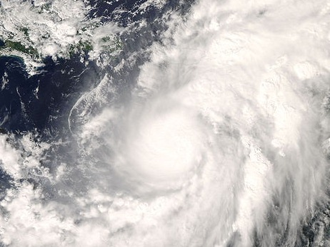 Omar in the Caribbean Sea in 2008 as a Category 1 hurricane.