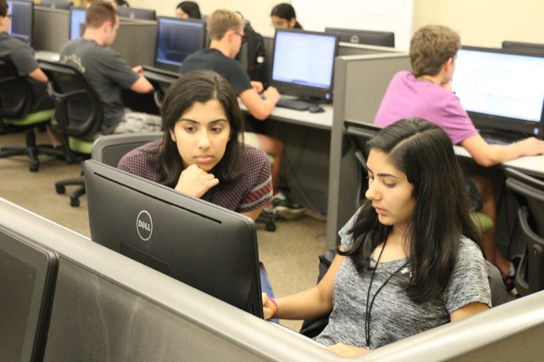 Students participate in Bridge 2017, a two-week summer immersion program that prepares incoming freshmen who might have less programming experience for their first computer science course at Purdue. Undergraduate applications to the computer science program have increased so much that the admission rate has declined even as the quality of applicants improves, said Sunil Prabhakar, head of the Department of Computer Science.