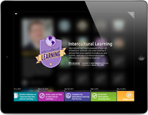 A new iPad app created by Purdue University allows users to display professional digital badges. The app is part of Purdue's Passport platform, and can display badges from the Passport app or from the popular Mozilla Backpack. (Purdue University image)